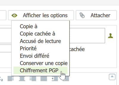 Afficher les options Net-C