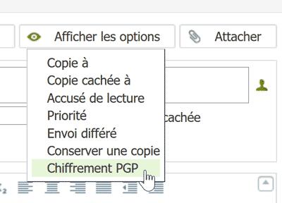 Afficher les options Net-C