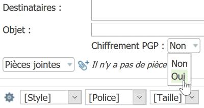 Chiffrement PGP sur Net-C