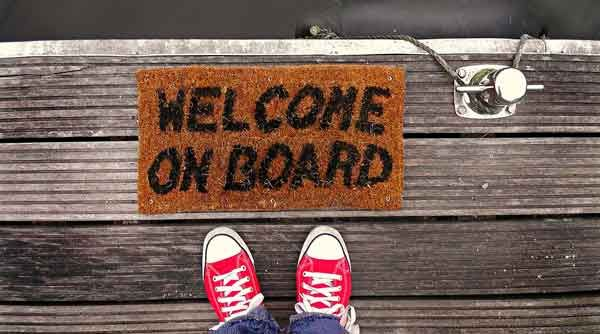 Bienvenue à bord (source Pixabay)