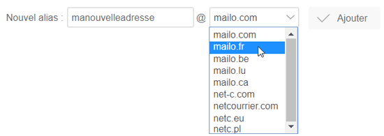 Alias mailo.fr, etc.