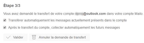 Transfert Outlook